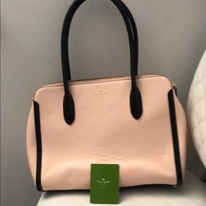 Kate Spade pink and black tote